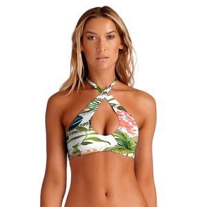 Vitamin A Swim Camilla Cross Neck Bikini Top